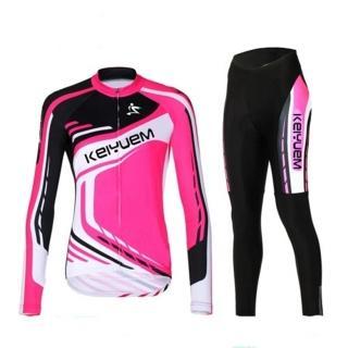【米蘭精品】自行車衣長袖套裝(吸濕排汗透氣舒適女單車服56y16)