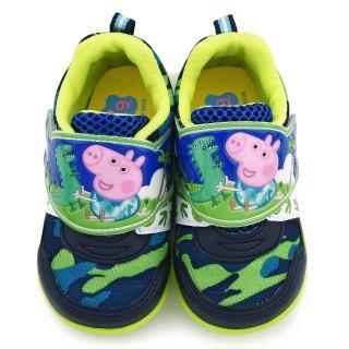 【童鞋城堡】喬治豬迷彩透氣運動鞋 粉紅豬小妹(PG6413-藍)