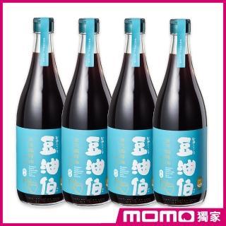 【豆油伯醬油 x MOMO獨家款】金美滿無添加糖釀造醬油680ml-4入組(滷、炒、醃、紅燒全方位料理)