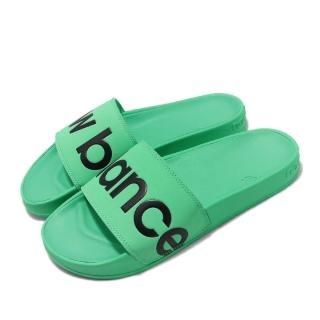 【NEW BALANCE】涼拖鞋 SMF200E1D 套腳 穿搭 男女鞋 紐巴倫 大logo 夏日 輕便 情侶款 綠 黑(SMF200E1D)