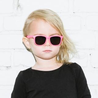 【Hipsterkid】抗UV偏光嬰幼兒童太陽眼鏡-繽紛桃(附固定繩)