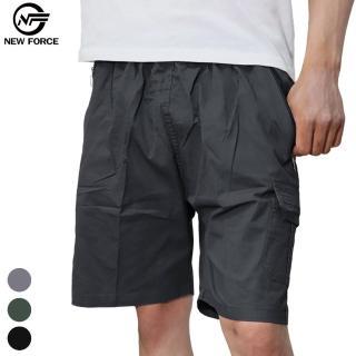 【NEW FORCE】寬鬆舒適多口袋休閒工作短褲(工作褲/男短褲/多口袋/彈性)