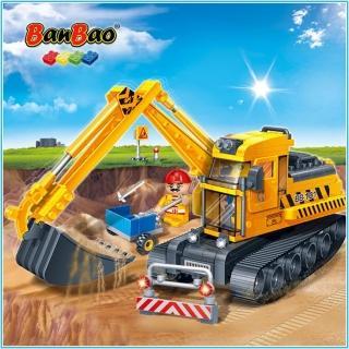 【BanBao 邦寶積木】8536怪手挖掘機(工程系列)