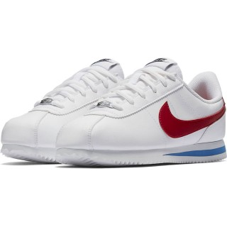 【NIKE 耐吉】CORTEZ BASIC SL GS 白/紅-904764103(童休閒鞋)