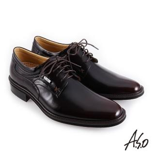 【A.S.O 阿瘦集團】職場通勤 霸足氣墊防潑水綁帶紳士鞋(酒紅)