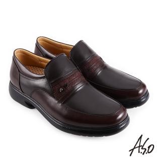 【A.S.O 阿瘦集團】機能休閒 超能耐 I 代異材搭配樂福商務休閒鞋(咖啡)