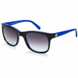 【TORY BURCH】名模look歐美風黑X藍大框太陽眼鏡(TY7052)