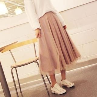 【米蘭精品】雪紡紗裙長裙(百搭高腰顯瘦氣質女裙子4色69l19)