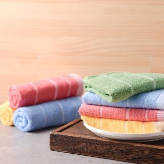 【OKPOLO】台灣製造蕾絲吸水毛巾-12入組(純棉家庭首選)