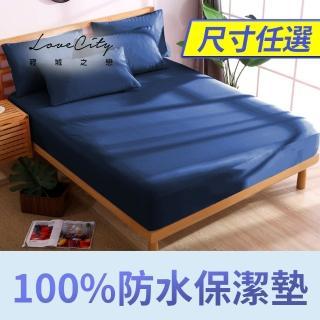【寢城之戀-速達】台灣製造 專業級吸濕排汗網眼 100%防水防蹣 床包式保潔墊(尺寸均一價)