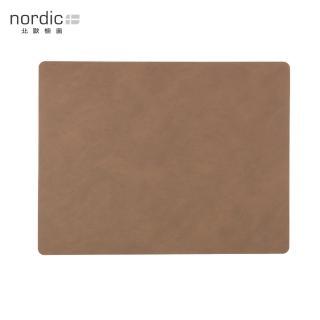 【北歐櫥窗】LIND DNA NUPO 皮革餐墊(方形、棕)