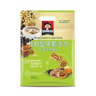 【QUAKER 桂格】堅果穀多多系列-藜麥核桃風味(10入/袋)