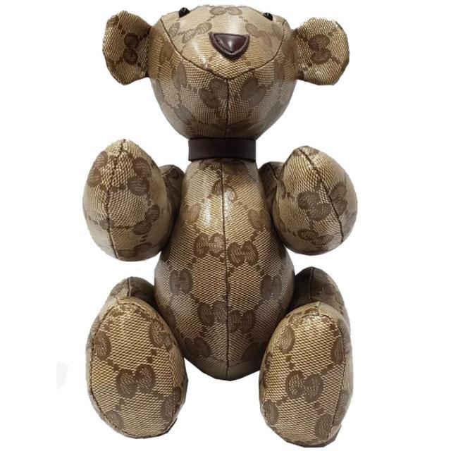 【GUCCI 古馳】GUCCI 經典限量款泰迪熊(駝色)