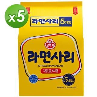 【韓國不倒翁OTTOGI】Q拉麵 純麵條(110公克x 5入)X5入