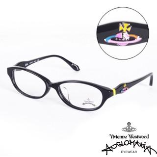 【Vivienne Westwood】ANGLO MANIA系列-英倫龐克土星環光學眼鏡(AN248-01-黑)