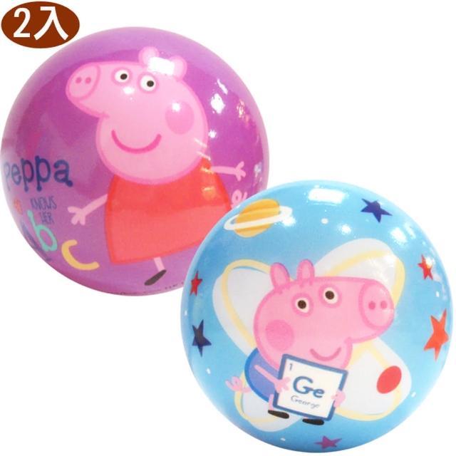 【TDL】粉紅豬小妹佩佩豬彈力球玩具軟球玩具球2入 607972