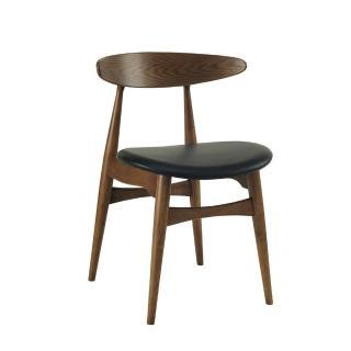 【東隅居家 北歐系列】TRICIA 餐椅 咖啡黑(餐椅)