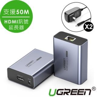 【綠聯】HDMI 訊號延長器 發射端+接收端 支援50M