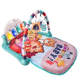 【JoyNa】嬰兒早教健身架踢踢琴 健力架腳踏鋼琴遊戲毯