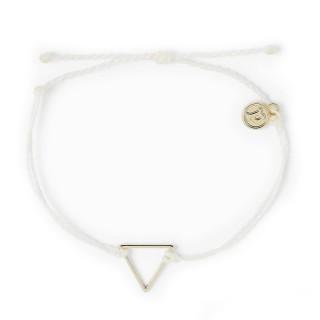 【Pura Vida】美國手工 金色三角形 白色臘線衝浪手鍊手環(金色 三角形 白色臘線)