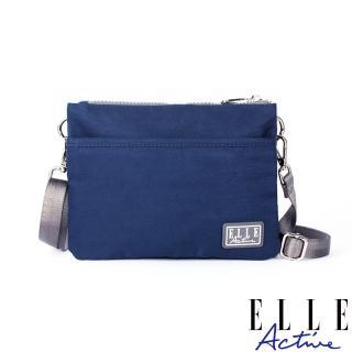 【ELLE active】透視網布系列-側背包/斜背包/包中包-小-深藍色