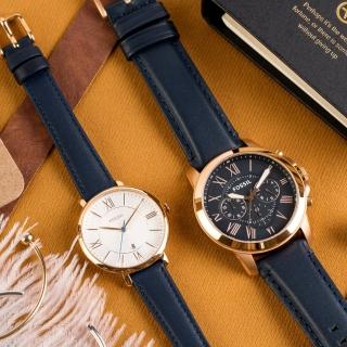 【FOSSIL】羅馬情懷時尚情侶對錶(FS4835+ES3843)