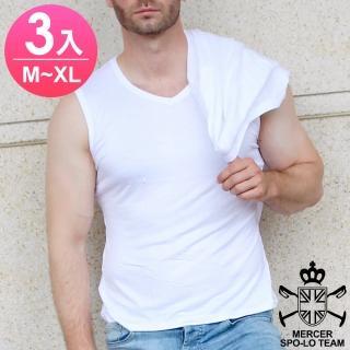 【麥瑟保羅 MERCER SPO-LO】歐式休閒涼感柔暖寬肩背心(黑白M-XL-3件)