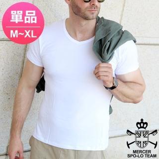 【麥瑟保羅 MERCER SPO-LO】歐式休閒涼感柔暖短袖(黑白M-XL-單件)