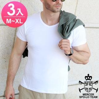 【麥瑟保羅 MERCER SPO-LO】歐式休閒涼感柔暖短袖(黑白M-XL-3件)