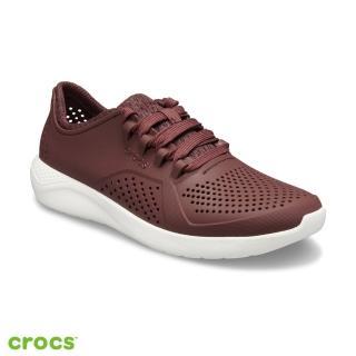 【Crocs】女鞋 女士LiteRide徒步繫帶鞋(205234-616)