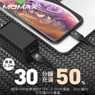 【Momax】Elite Link Lightning to Type-C 傳輸線DL31-1.2m