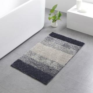 簡約吸水防滑地墊臥室浴室客廳腳墊門墊50*80cm條紋灰