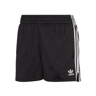 【adidas 愛迪達】短褲 Originals 3 Stripes 女款 愛迪達 三葉草 三線 路跑 健身 重訓 黑 白(CY4763)