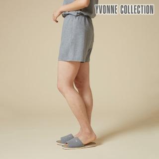 【Yvonne Collection】純棉素色平口短褲(暗灰)