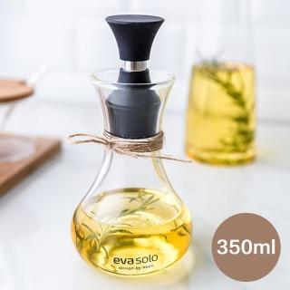 【瑞典廚房】高質感 流線型 SOLO 玻璃防漏 油壺 油醋瓶 調味瓶 香草 橄欖油 油瓶(350ml)