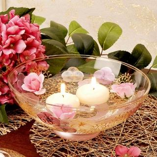 【Madiggan 貝斯麗】鬱金香系列 手工彩繪開運玻璃碗盆(湛藍.紫紅 雙色可選)