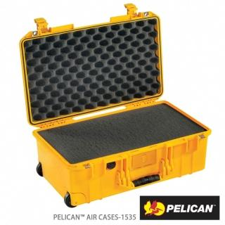 【PELICAN】1535Air 含泡棉輪座拉桿氣密箱(黃)