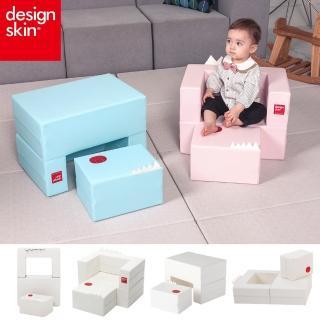 【韓國design skin】四合一蛋糕沙發 三色任選(書桌椅 餐桌椅 球池 收納  畫畫桌 幼兒 兒童沙發)