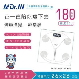 【Dr.AV 聖岡科技】PT-2019 電子體重計(體重計 電子秤 秤)