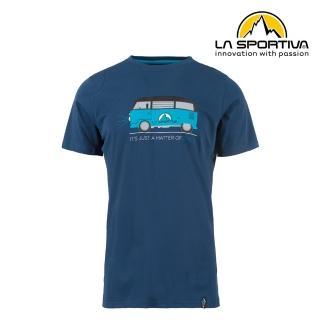 【LA SPORTIVA】Van T-Shirt 透氣短袖上衣 男款 藍色 #H47618618