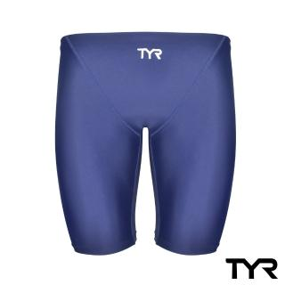 【TYR】Solid Jammer 男用及膝泳褲 藍色(修身塑型剪裁)