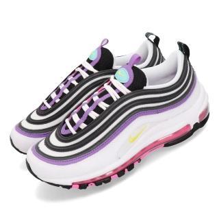 【NIKE 耐吉】休閒鞋 Air Max 97 運動 女鞋 氣墊 避震 經典款 反光 復刻 穿搭 白 紫(921733-106)