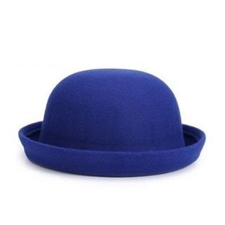 【米蘭精品】爵士帽禮帽(毛呢捲邊復古情人節生日禮物女帽子22色71k75)