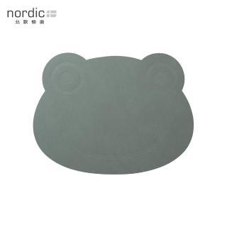 【北歐櫥窗】LIND DNA NUPO 兒童皮革餐墊(綠蛙)