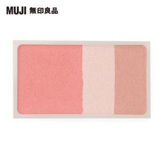 【MUJI 無印良品】3色臉部粉彩/珊瑚/4.7g