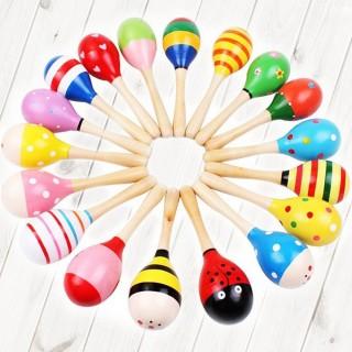 【美佳音樂】奧福打擊樂器/兒童樂器 木製/彩繪 沙鈴/沙槌-23公分(1入)