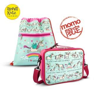 【Tyrrell Katz】兒童時尚輔學2件組-彩虹獨角獸(餐袋+學習袋)