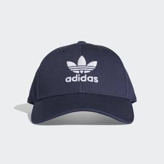 【adidas 愛迪達】TREFOIL BASEBALL 老帽 三葉草 深藍 男女款(DV0174)