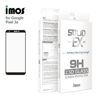 【iMos】Google Pixel 3a(2.5D 滿版玻璃 螢幕保護貼)