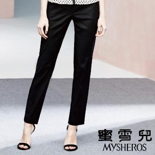 【mysheros 蜜雪兒】天絲棉直筒長褲(黑)